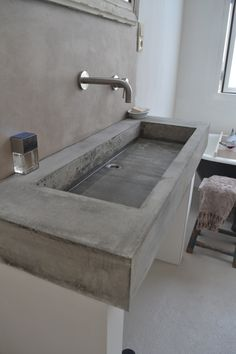lavabo in cemento #concrete #bathroom