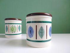 Vintage Keramik Dose mit Deckel aus den 50ern / vintage ceramic can, 50s retro…