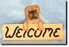 Shar Pei - Dog Breed Welcome Sign - Our unique selection of hand painted natural oak Dog Breed Welcome Signs are sure to please the most discriminating Dog Lover! Be the envy of everyone with this uni...