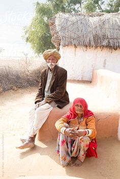 Typical village in Rajasthan. India by Hugh Sitton - Stocksy United People Around The World, Around The Worlds, Rajasthani Painting, India, The Unit, Stock Photos, Couple Photos, Portraits, Image