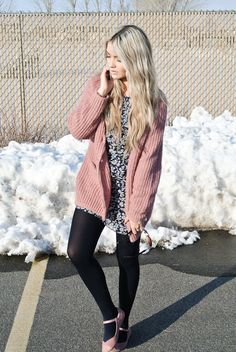 Ah! The slouchy sweater, floral, and THE SHOES! In love with the shoes  This is a great blog!!