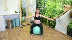 Ejercicios con pelota de pilates para embarazadas