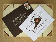 Virginia is for Lawlers Moving Announcements by Snow & Ivy and La Happy via Oh So Beautiful Paper (9)