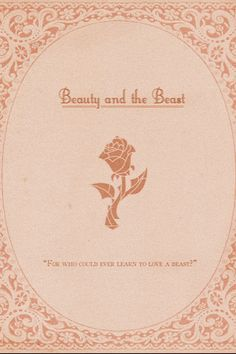 Beauty and the beast, pretty, vintage, pastel