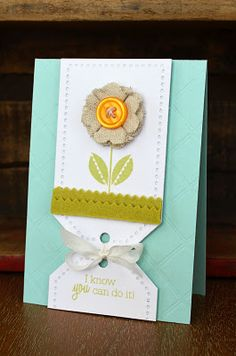 So clever of Jess Witty to use the two tags as a mat for the card!