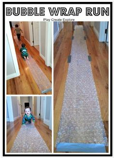 Sensorimotor Activity of the Week: Bubble Wrap Run - Pinned by @PediaStaff – Please Visit http://ht.ly/63sNt for all our pediatric therapy pins