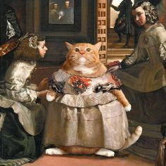 Art And Illustration, Fat Cats, Cats And Kittens, Fat Kitty, Ragdoll Kittens, White Kittens, Black Cats, Kitty Cats, Paintings Famous