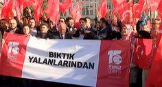 #GÜNDEM CHP İl Başkanlığı önünde 'kontrollü darbe' protestosu: Beyoğlu'nda 15 Temmuz Derneğinin organizesiyle toplanan bir grup, Kemal…