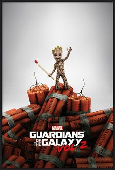 Guardians Of The Galaxy Vol. 2 - Groot Dynamite Plakat | Kjøp hos Europosters.no