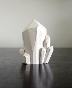 STONE & VIOLET // handmade wood crystal clusters