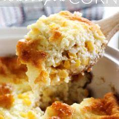 Scalloped Corn Recipe on Yummly. Corn Casserole, Casserole Dishes, Corn Recipes, Great Recipes, Chocolate Fudge Pie, Corn Souffle, Scalloped Corn, Corn Dishes, Corn Muffin Mix