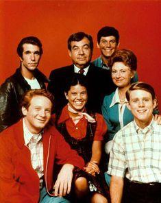 """""""Happy days"""" - Les Jours Heureux (1974-1984) Acteurs : Henry Winkler (Fonzie) et Ron Howard (Richie)"""