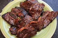 Short Ribs Flanken Style Recipe, Beef Flanken Ribs Recipe, Beef Ribs Recipe, Grilled Beef Short Ribs, Smoked Beef Short Ribs, Bbq Short Ribs, Hawaiian Bbq Beef Recipe, Hawaiian Recipes, Hawaiian Luau