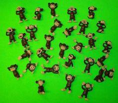 cool Monkey Figures 25 Tiny Plastic Monkey Figures Party Favors