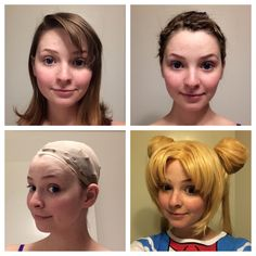 How to Pin Your Hair, Wig Cap and Wig – Tutorial – Rachsaysmer Cosplay Bobby Pin Curls, Pin Curls Short Hair, How To Curl Short Hair, Pin Up Hair, Costume Wigs, Cosplay Wigs, Cosplay Wig Tutorial, Real Wigs, Diy Wig