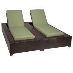 Bora Bora Chaise Lounge with Cushions Finish: Cilantro - http://delanico.com/chaise-lounges/bora-bora-chaise-lounge-with-cushions-finish-cilantro-652376346/