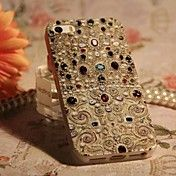 Colorful Zircon Palace Grain Back Case for iP... – USD $ 5.99