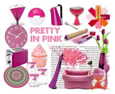 """""""Pretty in Pink"""" by redcandyuk ❤ liked on Polyvore featuring interior, interiors, interior design, home, home decor, interior decorating, Koziol, Alessi, Joseph Joseph and Kenwood"""