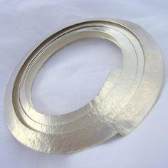 Circle silver brooch | Contemporary Brooches by contemporary jewellery designer Debbie Long