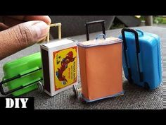 Rolling Luggage Toy for kids | Easy Miniature Furniture DIY - YouTube