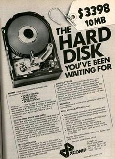3400 dollari per un hard disk da 10 mb
