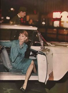 Vogue, October 1959 - now that's how a lady gets out of a car!