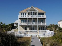 A Castle in the Sand. Oceanfront. 7 Bedrooms, 6.5 Baths. Oceanfront saline swimming pool. Hot tub. 9707 Dolphin Ridge Road Emerald Isle, NC.