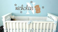 Hey, I found this really awesome Etsy listing at http://www.etsy.com/listing/150922286/teddy-bear-name-initial-nursery-kids
