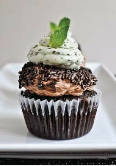 Milk Chocolate Cupcakes with Fresh Mint Frosting – A sweet Valentine's Day gift to give your loved ones this year!