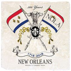 Our Marble coaster with the New Orleans Tricentennial design is exclusively offered for the New Orleans Tricentennial celebration. Classic Legacy is officially licensed. Mardi Gras Party, New Orleans Louisiana, Marble Coasters, Time To Celebrate, Customized Gifts, Custom Gifts, Local Artists, Green And Gold, Diy Projects