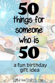 A fun Birthday gift idea. When my brother turned 50 earlier this year we put together a box filled with 50 things he'll need now he's 50th Birthday Presents, Unique 50th Birthday Gifts, 50th Birthday Party Ideas For Men, 50th Birthday Party Decorations, Happy 50th Birthday, 50th Party, Birthday Woman, Birthday Fun, Birthday Sayings