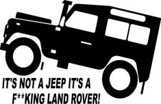 Fun Land Rover TD5 Defender 4x4 Off Road Sticker #3: Amazon.co.uk: Kitchen & Home