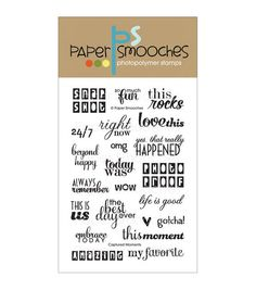 Paper Smooches Clear stamps Captured Moments. like this- tc (on sale now) 08/2014