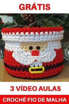 Christmas Crochet Patterns, Holiday Crochet, Crochet Storage, Xmas Wishes, Crochet Videos, Xmas Crafts, Xmas Decorations, Knitting, Sewing