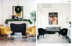 Proof that white rooms can pack a punch. December 2012 - Lonny Magazine - Lonny