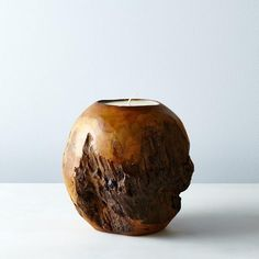 Spherical Teak Candle: Provides 90 hours of light and an evergreen-evoking spice scent.  #food52