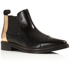 McQ Redchurchill Cap Toe Booties ($715) ❤ liked on Polyvore featuring shoes, boots, ankle booties, metallic boots, cap toe boots, toe cap boots and mcq by alexander mcqueen