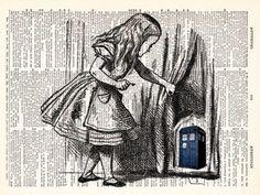 TARDIS x Alice in Wonderland fanart