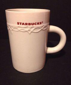 Starbucks Coffee Mug 10oz 2010 Cream Red #Starbucks