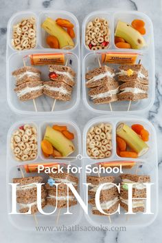 Fresh and easy School Lunch Packing ideas, by a mom with two sets of twins. From @whatlisacooks, packed in @easylunchboxes