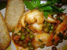 Cuoche clandestine: Seppie con piselli - Cuttlefish soup with peas - Calamarse con guisantes