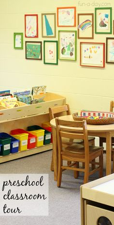 A look around a preschool classroom set up. Some good ideas from a virtual tour. Links to other preschool classes!