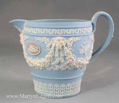 Wedgwood three coloured jasper wear cream jug, circa 1820. More stock available at www.martynedgell.com