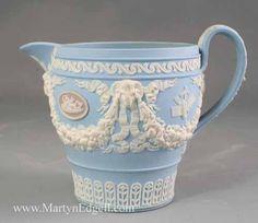 Wedgwood three coloured jasper wear cream jug, circa 1820. More stock available at www.martynedgell.com