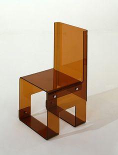 François Arnal, Acrylic Chair, 1969.