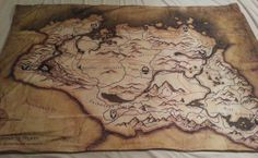 Wonder if they would do Azeroth? Skyrim map knit blanket  made to order by NerdAlertCreations, $55.00