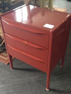 Lovely glossy red side drawer table from #FurnishN20