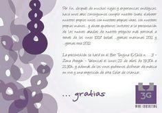 Invitacion de la presentacion de Gratias
