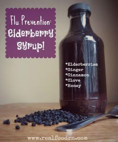 Elderberry Syrup I made this syrup with dried elderberries. Next time I would lose the cloves, drop the cinnamon by half and use powdered ginger instead of fresh. Adding Manuka honey to this instead of normal honey would help strengthen its medicinal/antibacterial properties. Worth making, and at approximately £0.90/bottle it's so much cheaper than Sambucol. Give it a try!
