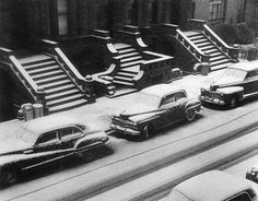 Ruth Orkin, White Stoops, New York City, circa 1952. From ckck.